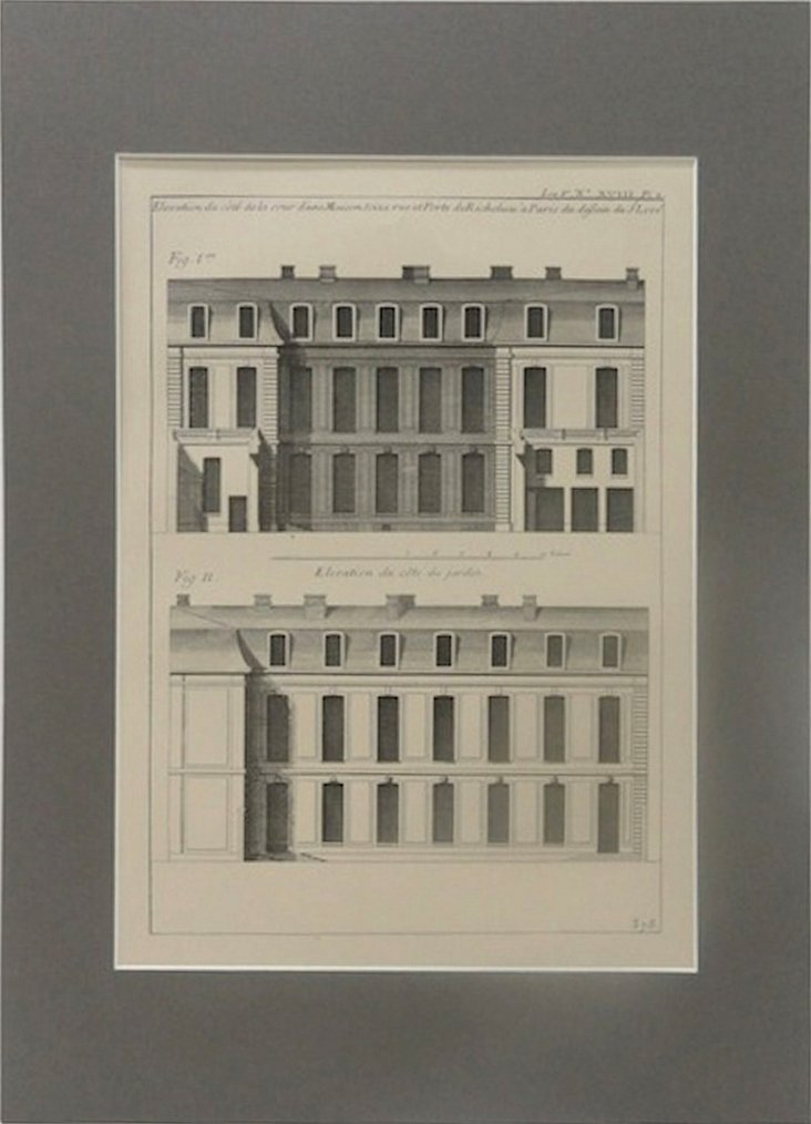 French Architecture Engraving, 1903