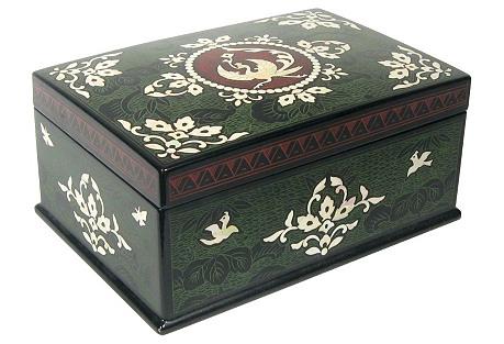 Lacquerware Phoenix Jewelry Box