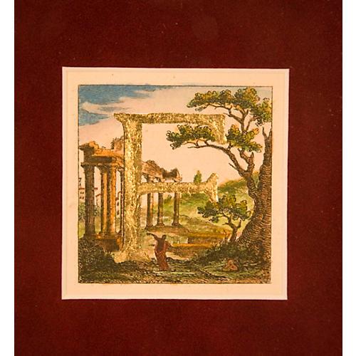Framed F on Italian Landscape