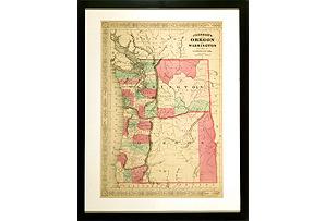 19th-C. Oregon & Washington Map*