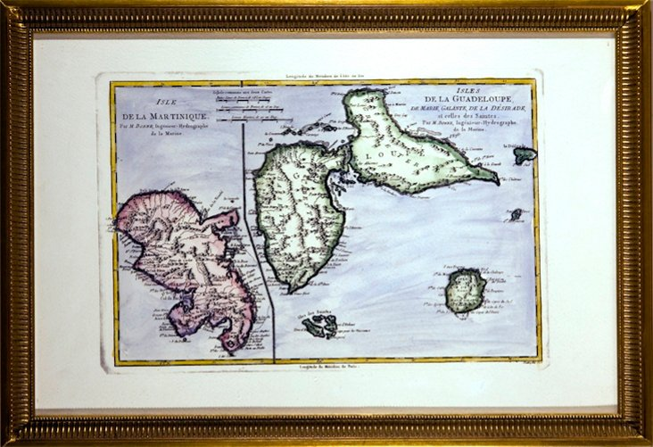 Map of Martinique & Guadeloupe