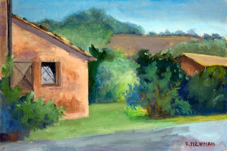 Farm View in Tuscan Landscape
