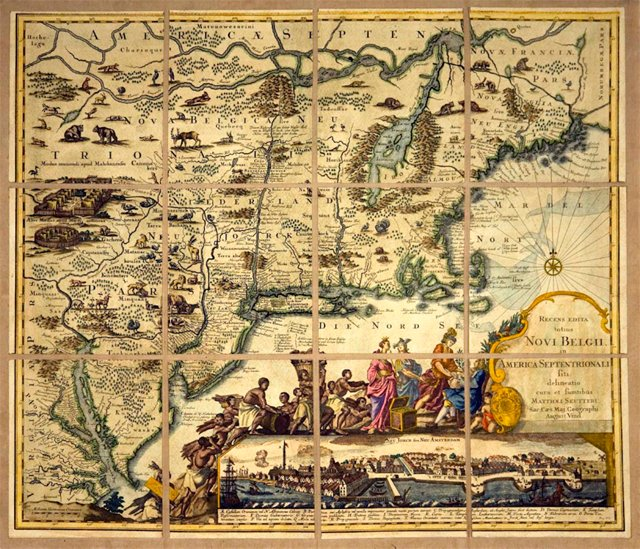 17th-C. Map of North America by Seutter