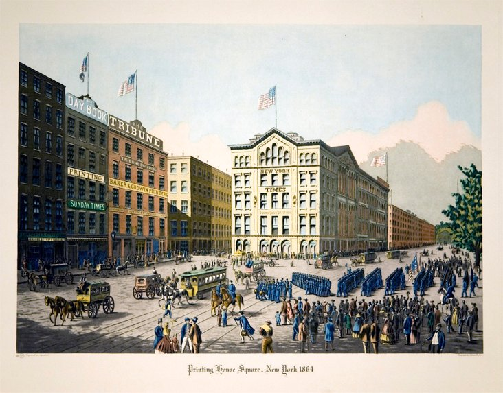 Printing House, New   York, 1864