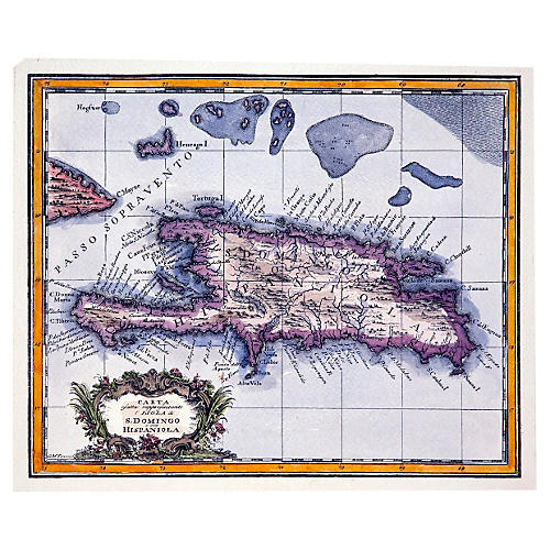 Map of South Domingo & Hispaniola