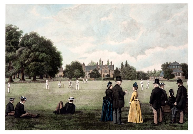 Cricket Match at Rugby School, 1889