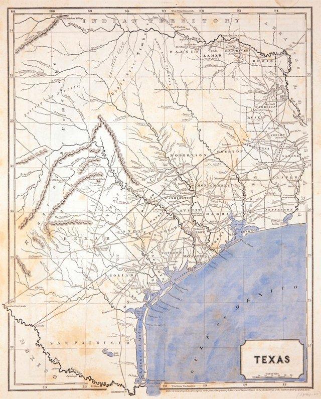1844 Texas Map