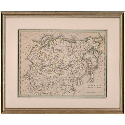 Framed Map of Siberia