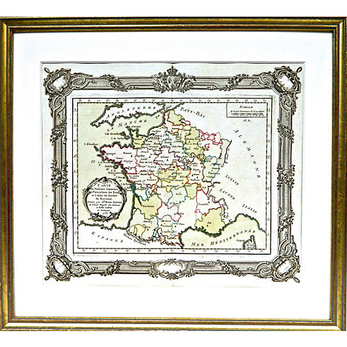 1765 Map of France