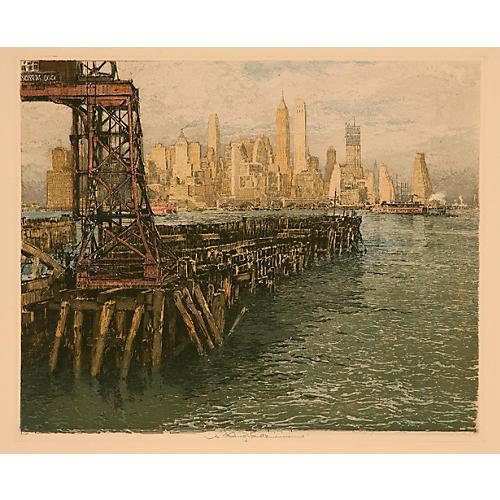 1940s New York Skyline