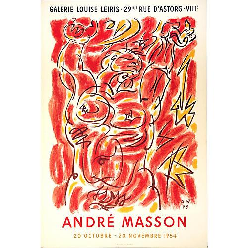 André Masson Exhibit Poster