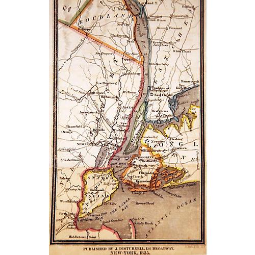 Hudson River & Vicinity Map, 1835