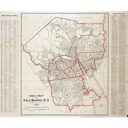 1883 Map of Providence, RI