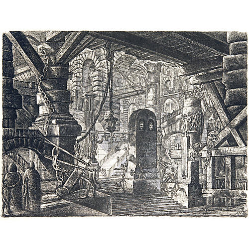 The Pier with Chains by Piranesi