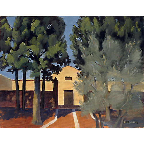 Plein Air Tuscan Hill House