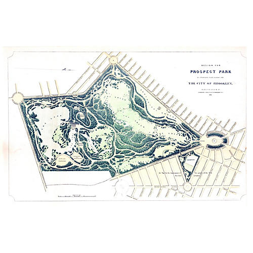 1866 Plan for Prospect Park Brooklyn