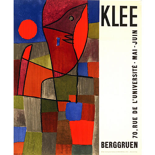 Klee Paris Exhibit Poster