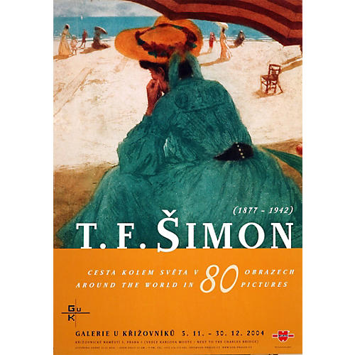 T F Šimon Gallery Exhibition Poster