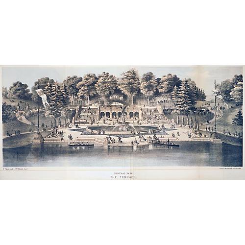 1864 Central Park Bethesda Fountain