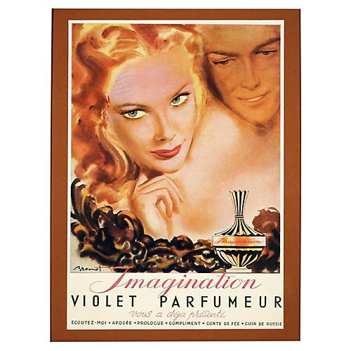 Framed Parisian Parfumeur Ad