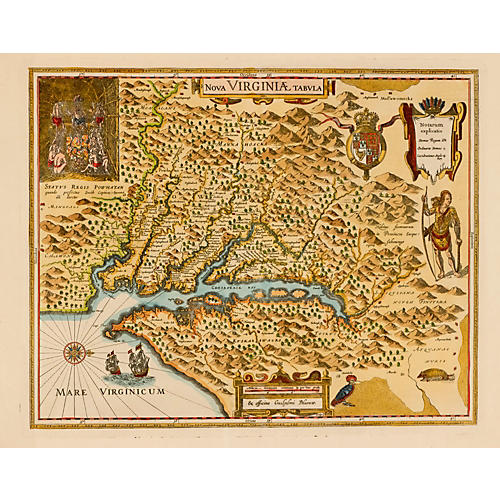 17th-C. Map of Virginia