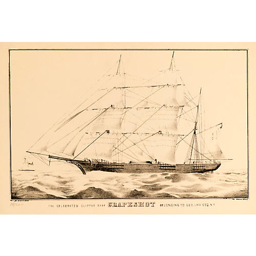 Currier & Ives The Clipper Grapeshot