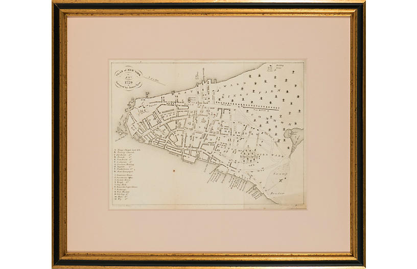 Plan of New York, 1729