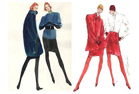 Fashion Sketches by Gordon Henderson S/2