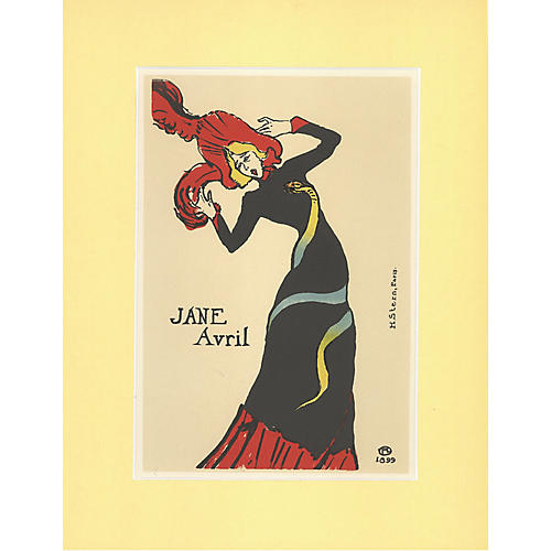 Jane Avril by Toulouse-Lautrec