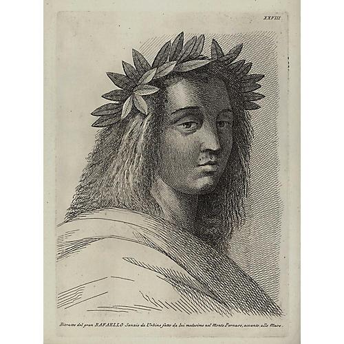Engraving after Self-Portrait of Raphael