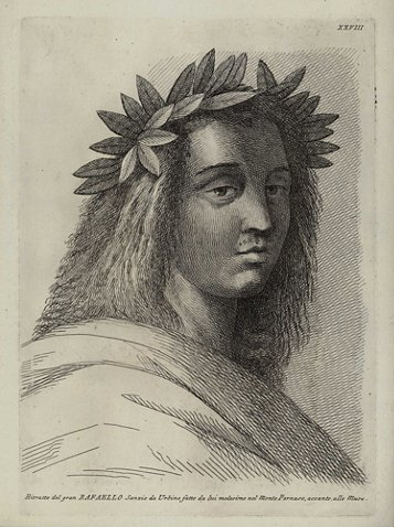 Engraving After Self Portrait Of Raphael Phyllis Lucas Galleryold