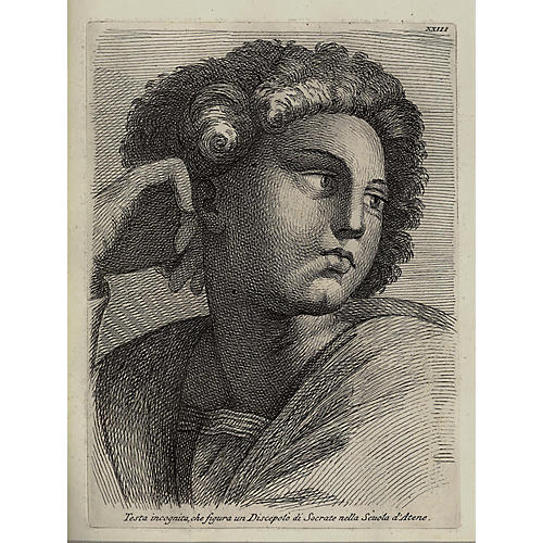 Engraving of a Student of Socrates