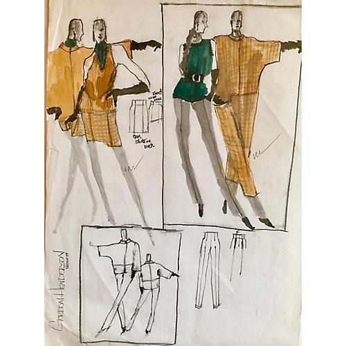 Gordon Henderson Fashion Sketch