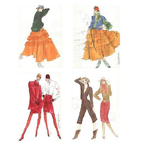 Gordon Henderson Fashion Sketches, S/4