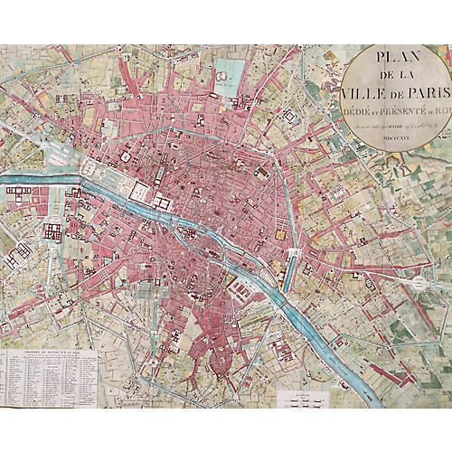 1816 Plan de la Ville de Paris