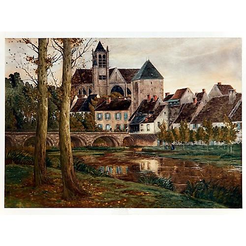 French Village by a Lake
