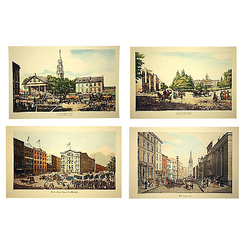 19th-C. New York Scenes, S/4