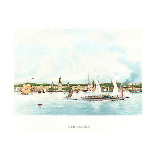 New Orleans with Sailboats