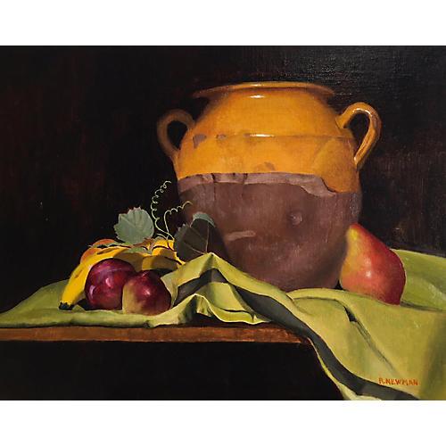 Still Life of Antique French Confit Pot