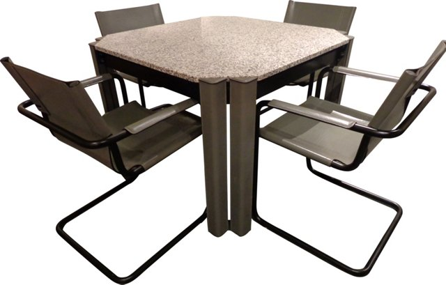 Matteo Grassi Table & Chairs, 5 Pcs