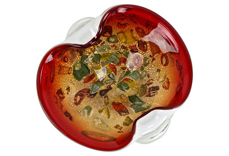 Murano Multicolor & Silver Catchall Bowl