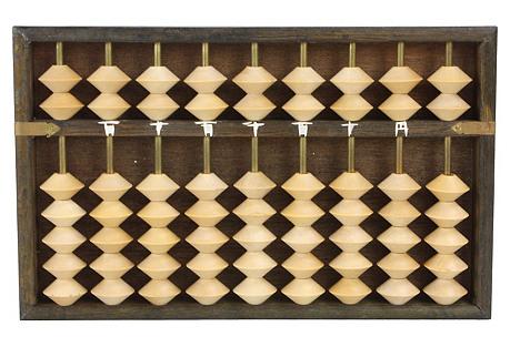 Two-Tone Japanese Wood Abacus
