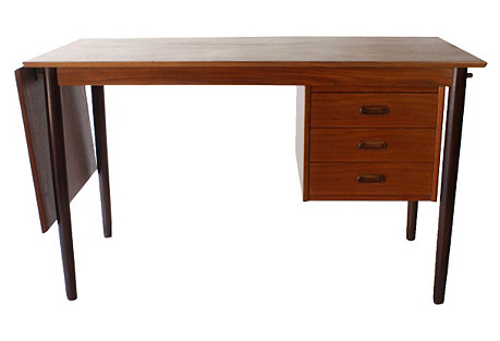 Arne Vodder Danish Modern Drop-Leaf Desk
