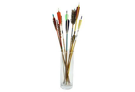 Midcentury Multicolor Arrows, S/10