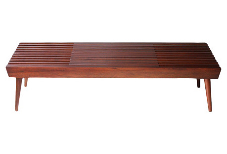 Walnut Expanding Slat Coffee Table