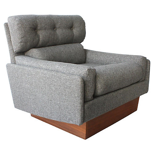 Pearsall-Style Plinth Club Chair