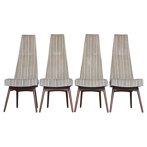 High-Back Dining Chairs, S/4