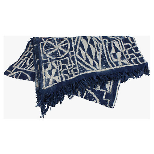 African Indigo Ceremonial Throw