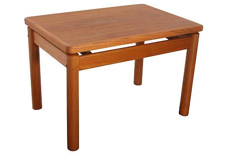 Modern Teak Side Table by Trioh