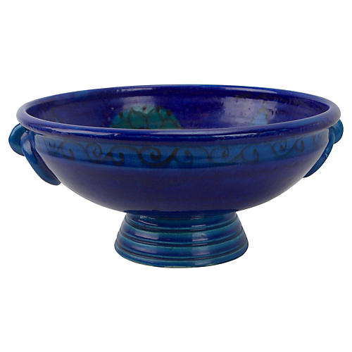 Bitossi Flowered Rimini Blue Footed Bowl